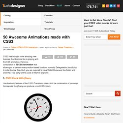 50 Awesome CSS3 Animations