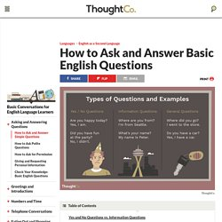 50 Basic English Questions