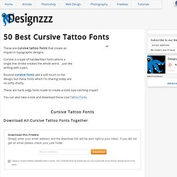 50 Free Cursive Tattoo Fonts