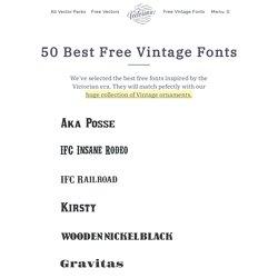 50 Best Free Vintage Fonts