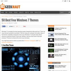 50 Best Free Windows 7 Themes