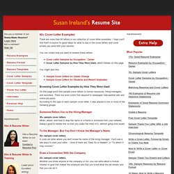Susan Ireland's Resume Site