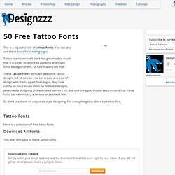 50 Coolest Tattoo Fonts for Free