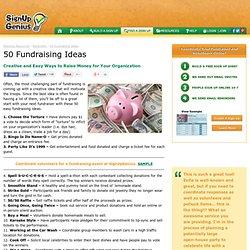 50 Fundraising Ideas