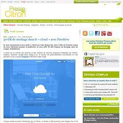 "50 GB de stockage dans le ""cloud"" avec Firedrive"