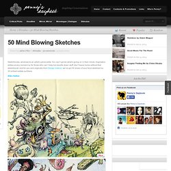 50 Mind Blowing Sketches | Penny's Daybook | www.PennysDaybook.com