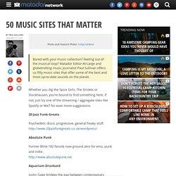50 Music Sites That Matter