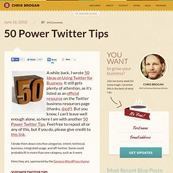 50 Power Twitter Tips