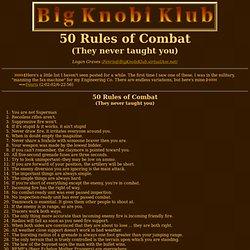 50 Rules of Combat