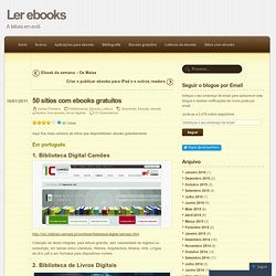 50 sítios com ebooks gratuitos