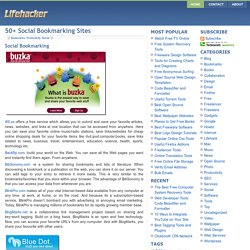 50+ Social Bookmarking Sites