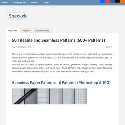 50 Tileable and Seamless Pattern Sets (500+ Patterns)
