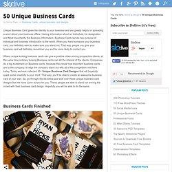 50 Unique Business Cards