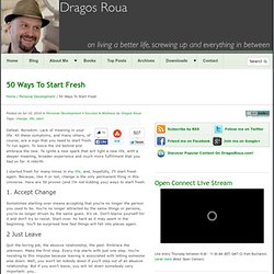 50 Ways To Start Fresh