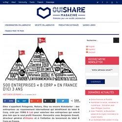 """500 entreprises """"B Corp"""" en France d'ici 3 ans"""