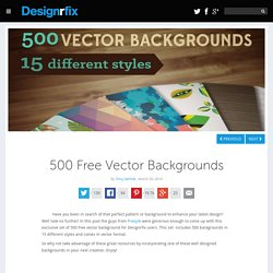 500 Free Vector Backgrounds