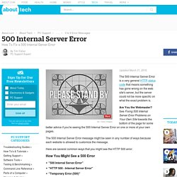 500 Internal Server Error (What It Is and How To Fix It)