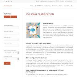 ISO 50001 Certification – IAS Latin America