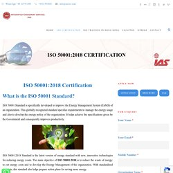 ISO 50001 Certification Services - IAS