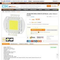 JR-50W-50W 5000lm 6500K W LED Module - plata + blanco + amarillo - sin Gastos de Envío