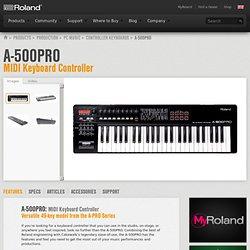 A-500PRO: MIDI Keyboard Controller