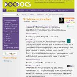 507 Vulgarisation scientifique