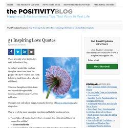 51 Inspiring Love Quotes