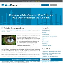51 Tools for Security Analysts