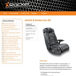 #51259 X Rocker Pro H3 - X Rocker