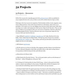 52 Projects – Resources