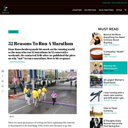 52 Reasons To Run A Marathon