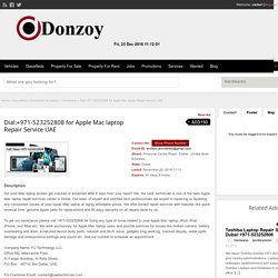 Dial:+971-523252808 for Apple Mac laptop Repair Service UAE - Donzoy