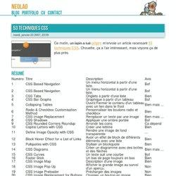 53 Techniques CSS - Blog de neolao