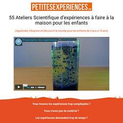 55 Idées d'expériences