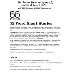 55-Word Fiction by James W. Harris