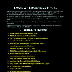 LM555 Timer Circuits