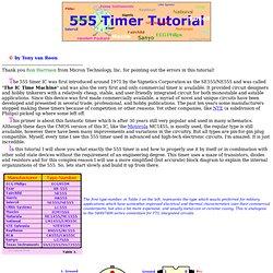 555 Timer/Oscillator Tutorial
