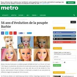 56 ans d'évolution de la poupée Barbie