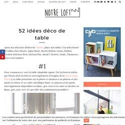29 idées de table pour votre loft