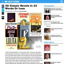 58 Classic Novels In 33 Words Or Less & Clutch Blog