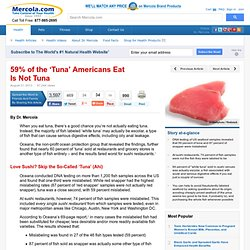 MERCOLA 31/08/13 59% of the 'Tuna' Americans Eat Is Not Tuna