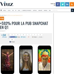 +593% pour la pub Snapchat en Q1