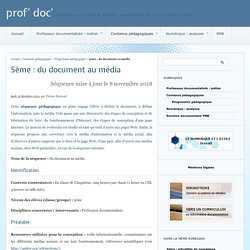 5ème : du document au média - prof' doc'