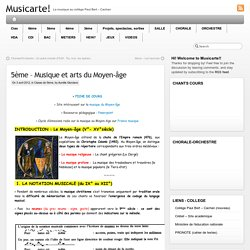 5ème – Musique et arts du Moyen-âge