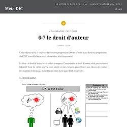 6-7 le droit d'auteur – Méta-DIC