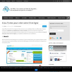 [branding #resume] 6 (ou 7) sites pour créer votre CV en ligne