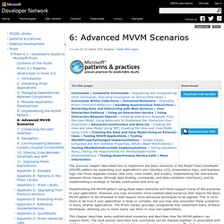 6: Advanced MVVM Scenarios
