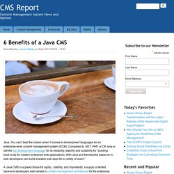 6 Benefits of a Java CMS
