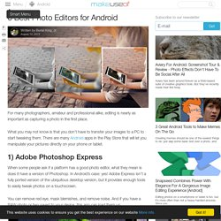 6 Best Photo Editors for Android