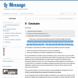 6 – Conclusion | Le Message